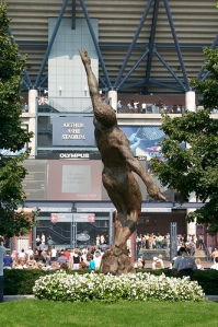 The new statue