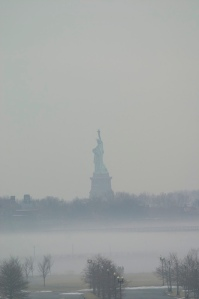 Statue of Liberty in fog