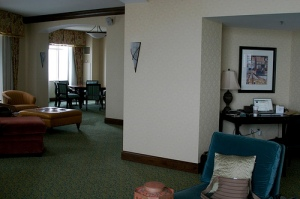 Presidential Suite - the desk & the waiting area