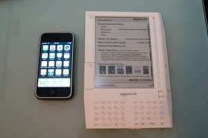 Kindle next to iPhone