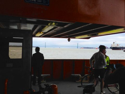 Going back to Manhattan on Staten Island ferry